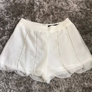 Ark &Co beaded high waisted shorts